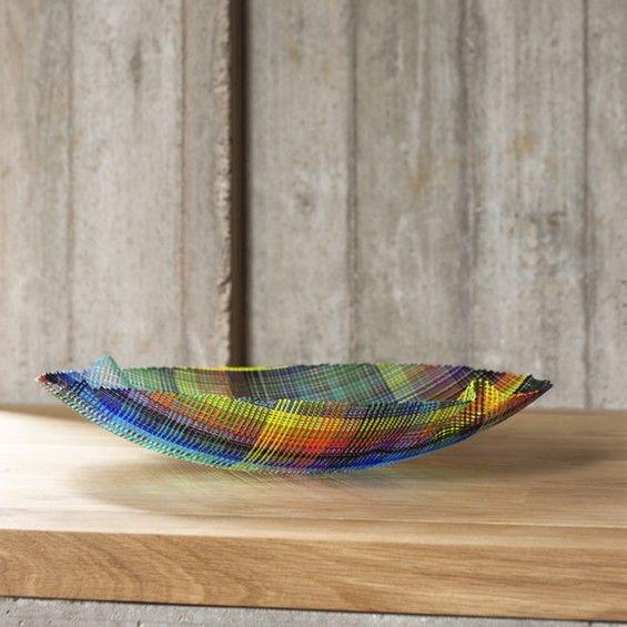 Kaleidoscopic Weaved Glass Designs