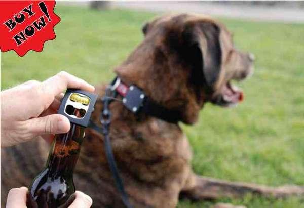 Beer-Opening Dog Collars
