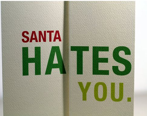 Disheartening Christmas Cards