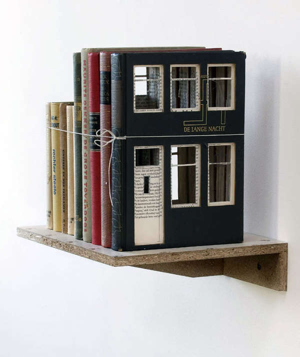Book-Built House Decor