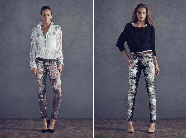 Bespattered Denim Fashions