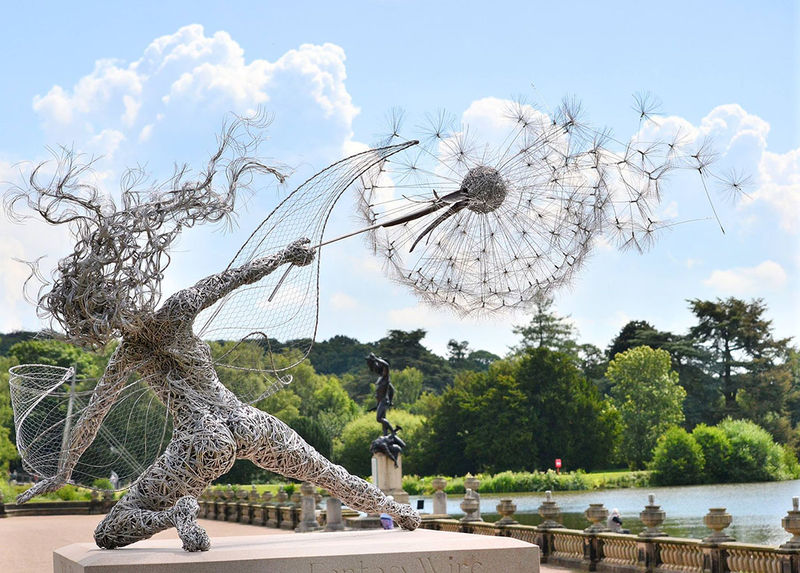 Whimsical Wire Installations