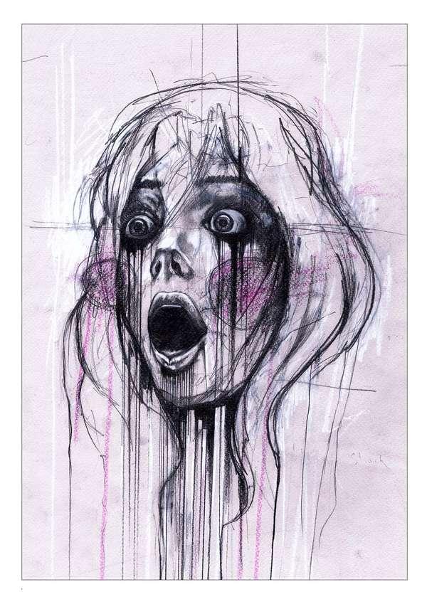Dramatic Drip Illustrations