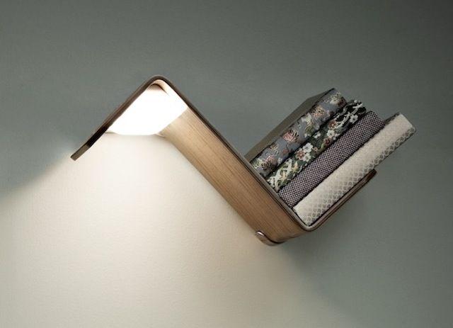 Illuminated Bookshelf Storage