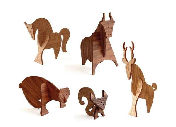 Moderne Wood Animals