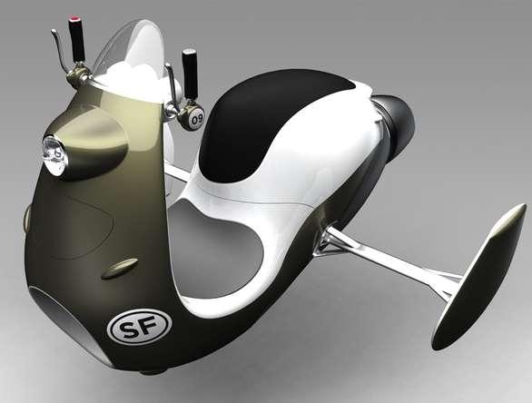 Futuristic Jet Scooters