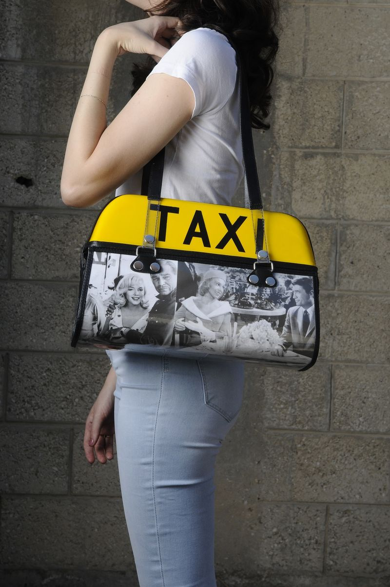 Upcycled Taxi Handbags