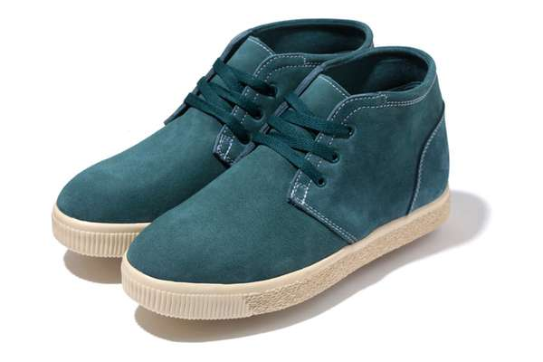 Blue Suede Skate Shoes