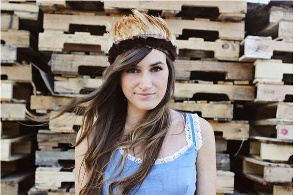 'A Beautiful Mess' DIY Feather Crown