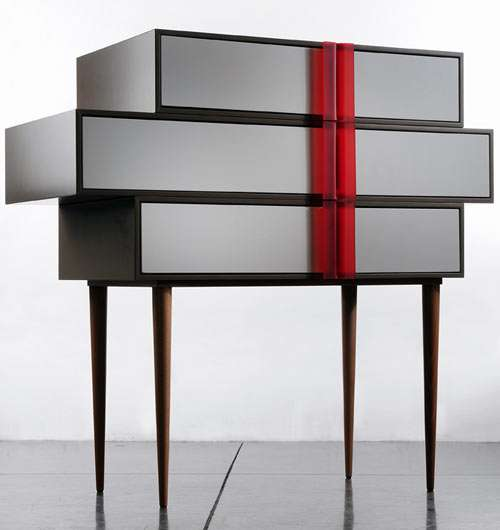 Skewed Stacked Drawers