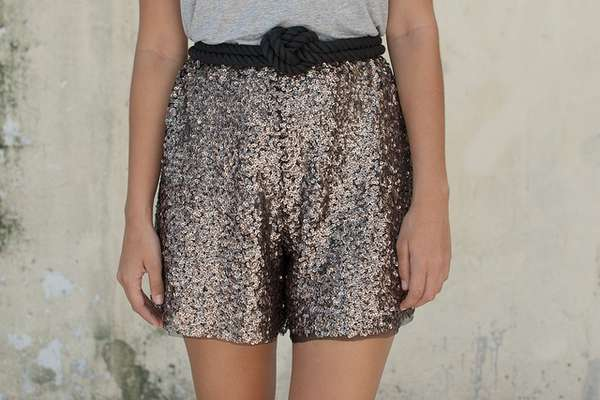 Stylishly Sequined Shorts