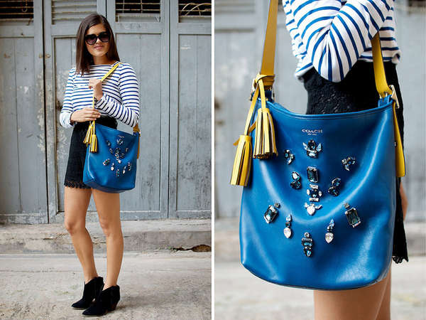 Thrifty Bedazzled Bags