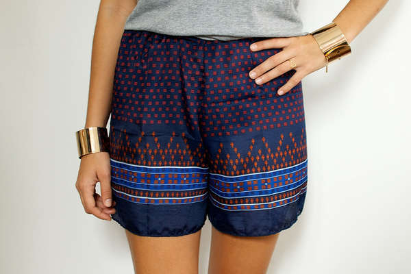 Silky Scarf Shorts