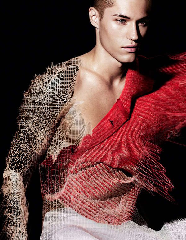 Digitized Knitwear Editorials