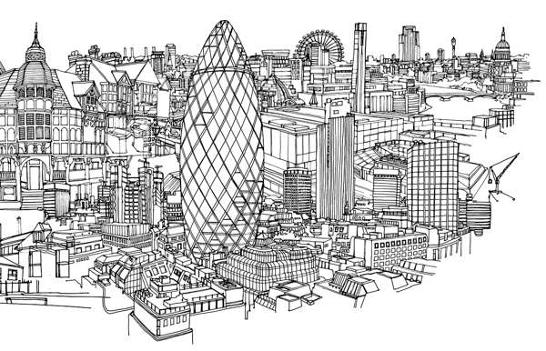 Intricate Cityscape Illustrations Abi Daker