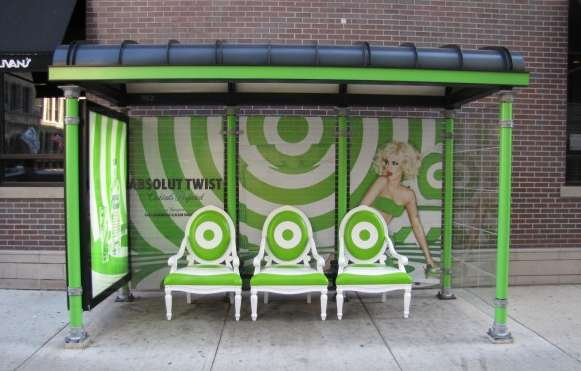 absolut vodka bus shelters
