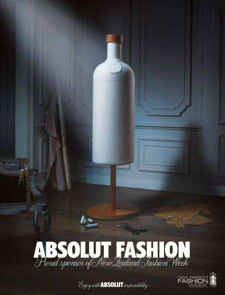 Absolut Vodka Fashion Week Ad