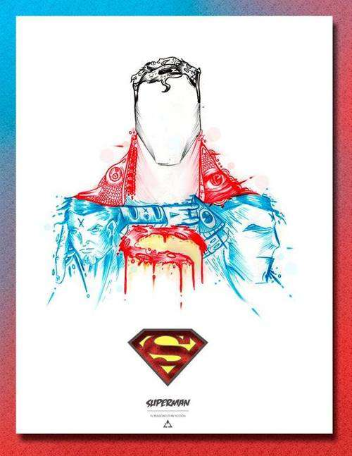 Abstract Comic Book Hero Depictions