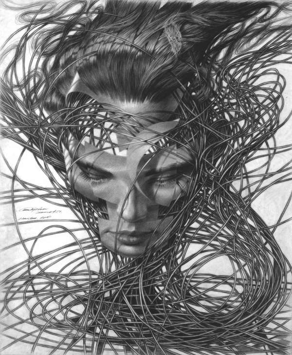 Peculiar Abstract Female Art : Abstract Drawings