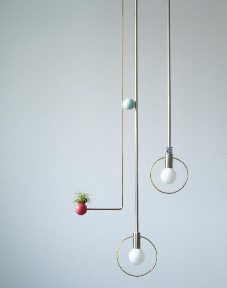 Minimalist Deconstructed Lamps