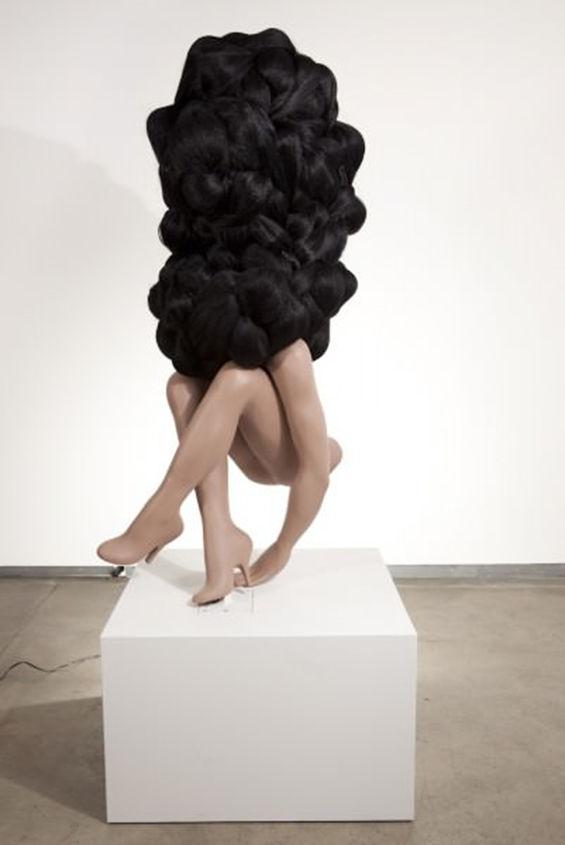 Half-Human Sculptures