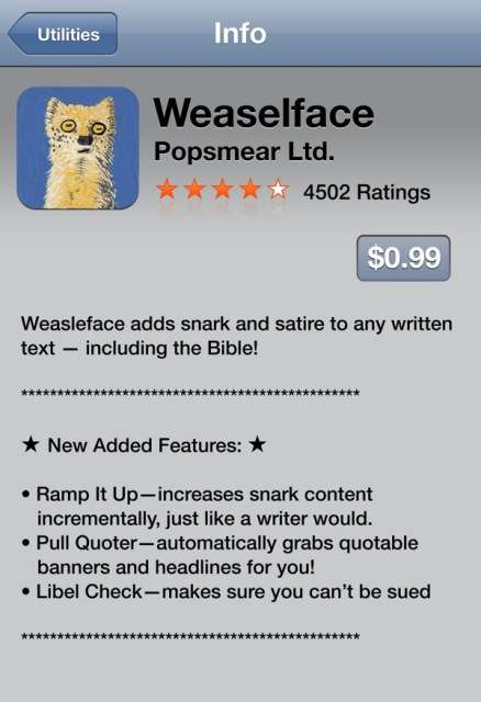 Absurdist iPhone Apps