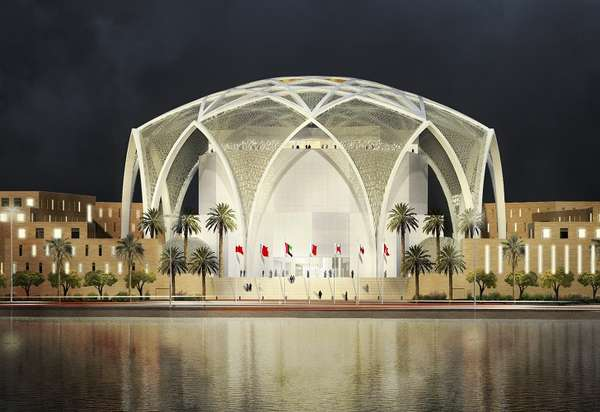 Dome Shaped Government Buildings Abu Dhabi Parliment