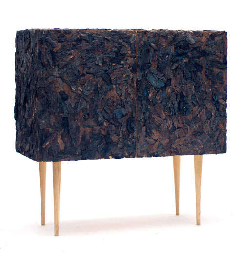 Bark Covered Cabinets