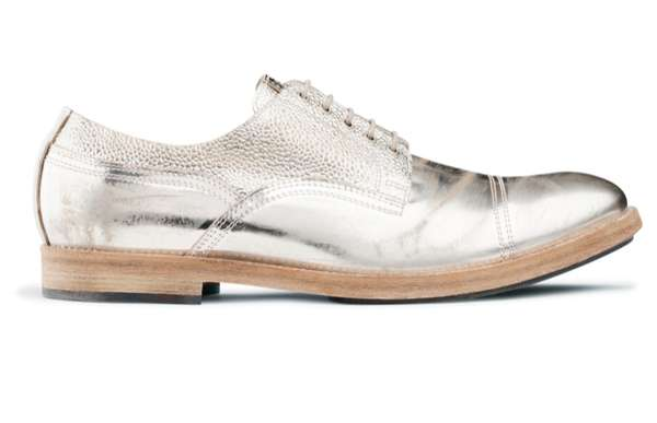 Metallic Derby-Inspired Shoes