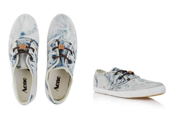 Acne Bleached Trainers