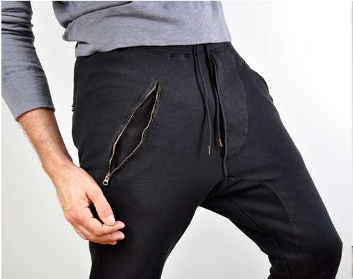 Zippered Harem Trousers