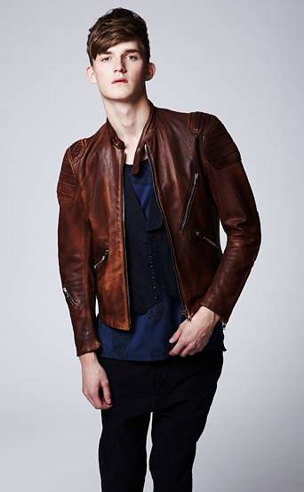 Acne Oliver Leather Biker Jacket