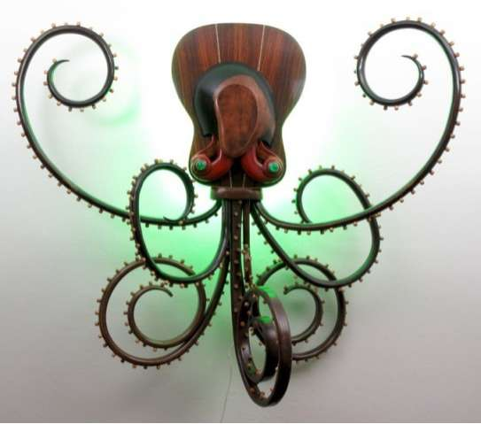 Upcycled Octopus Sculptures