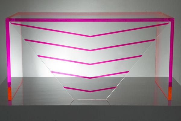 Geometric Lucite Furnishings