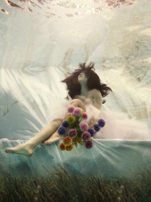 Submerged Wedding Portraitures