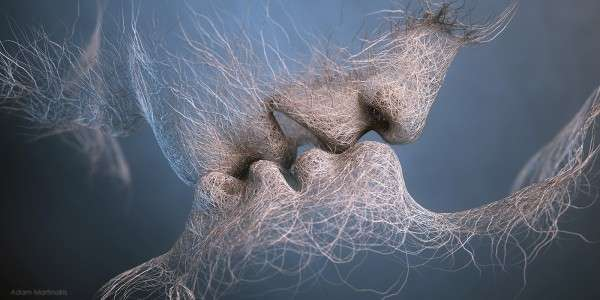 Surreal Kissing Sculptures