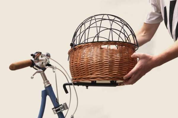 Quaint European Bike Baskets