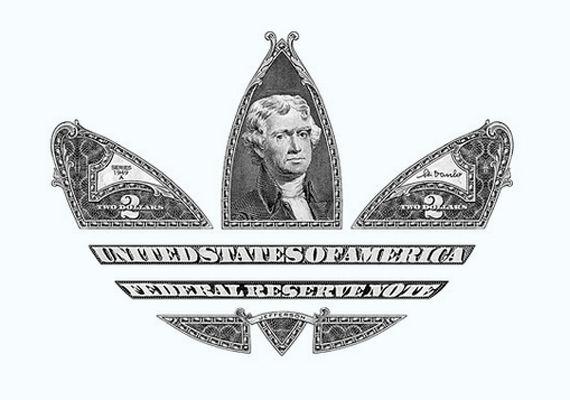 Monetary trifole logos adidas logo