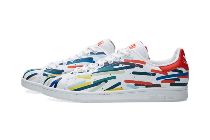 Vibrantly Scribbled Sneakers
