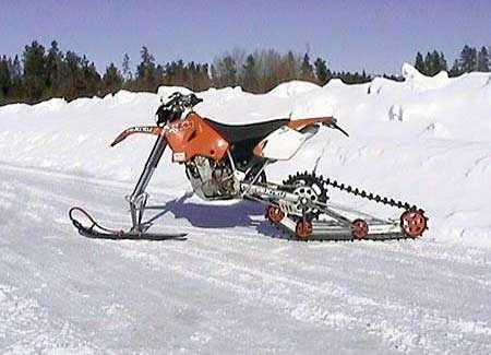 Snow Dirt Bike >> Snow Motorbikes Atv And Dirt Biking Meet Snomobiles For The Winter