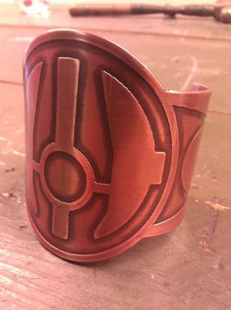 Intergalactic Copper Cuffs