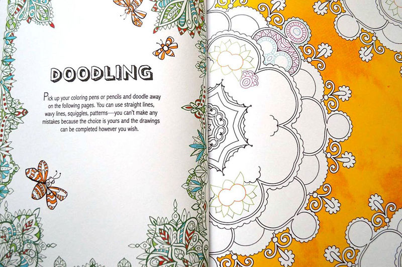 Stress-Reducing Coloring Books
