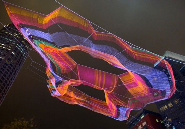 Suspended Rainbow Artwork