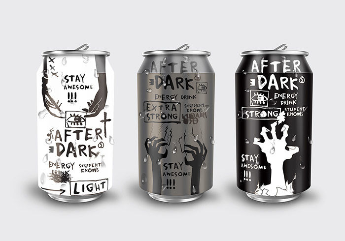 zombiebranded energy drinks after dark