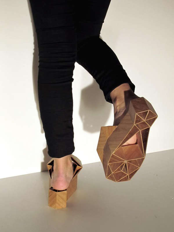 Wooden Geometry Footwear