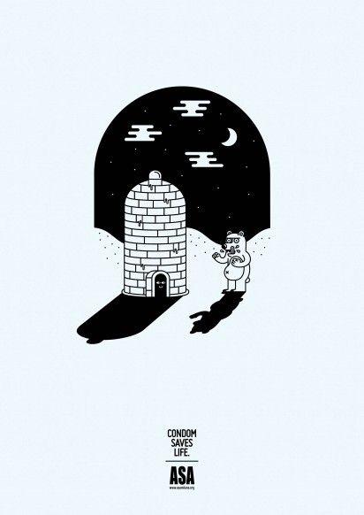 Cartoon AIDS Awareness Ads