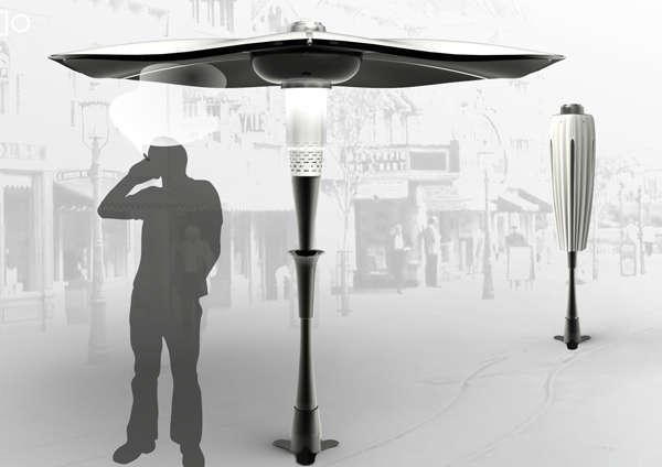 Smoke-Absorbing Umbrellas