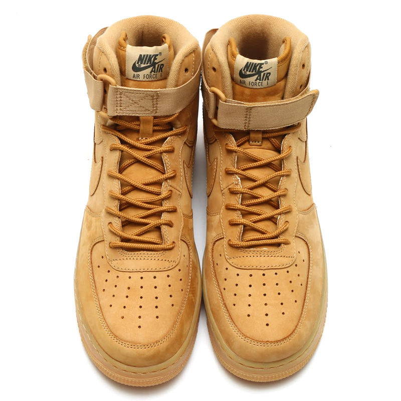 ... shoe. nike; wheat colored kicks air force 1 high