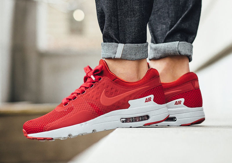 Streamlined Crimson Sneakers