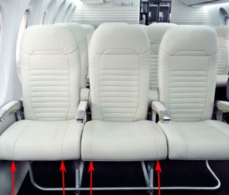 Spacious Airplane Seats